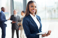 African businesswoman laptop Stock Image