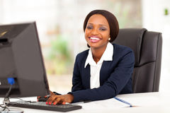 African businesswoman office Stock Photo