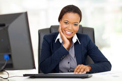 African businesswoman office Royalty Free Stock Photography
