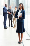 African businesswoman office Royalty Free Stock Image