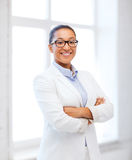 African businesswoman in office Stock Image
