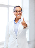 African businesswoman in office Stock Photo