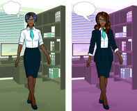 African Businesswoman in office interior Stock Images