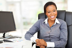African businesswoman office Royalty Free Stock Images