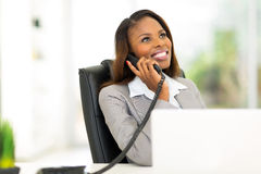 African businesswoman phone Stock Photo