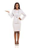 African businesswoman presenting Stock Photos