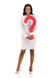 african businesswoman question mark Royalty Free Stock Photos