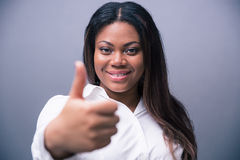 African businesswoman showing thumb up Royalty Free Stock Images