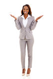 African businesswoman surprised Royalty Free Stock Image