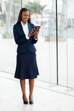 African businesswoman tablet Royalty Free Stock Image