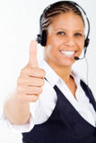 African Businesswoman Thumb Up Stock Photo