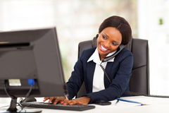 African businesswoman working royalty free stock photos
