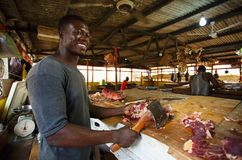 African butcher Royalty Free Stock Image