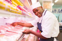African butcher working Stock Images