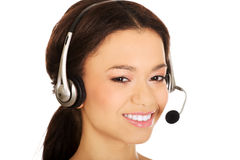 African call center operator Royalty Free Stock Photography