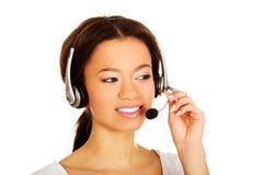 African call center operator Stock Photos