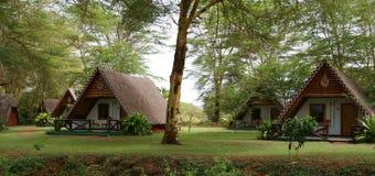 African Camp. An image of a safari camp site on the maasai mara in Kenya stock illustration