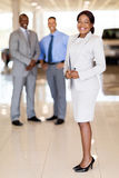 African car saleswoman team Royalty Free Stock Photos