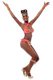 African carnival dancer posing Stock Photos
