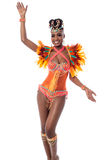 African carnival dancer posing Royalty Free Stock Photography