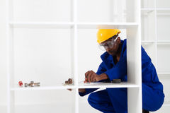 African carpenter Royalty Free Stock Photo
