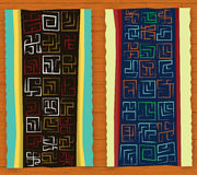 African carpet illustration Stock Images