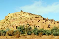 African castle - Kasbah, Ksar of Ait Ben Haddou.  Royalty Free Stock Images