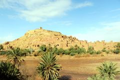 African castle - Kasbah, Ksar of Ait Ben Haddou.  Royalty Free Stock Photography