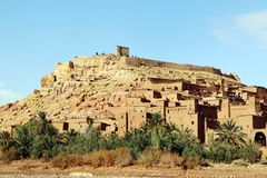 African castle - Kasbah, Ksar of Ait Ben Haddou.  Royalty Free Stock Photos