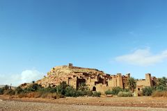 African castle - Kasbah, Ksar of Ait Ben Haddou Stock Images