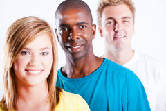 African and caucasian people Royalty Free Stock Photo