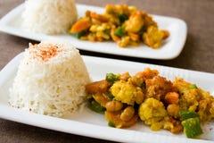 African Cauliflower Beans Dish Stock Photography