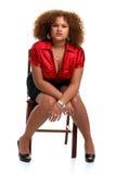 african chair posed woman young Στοκ φωτογραφίες με δικαίωμα ελεύθερης χρήσης