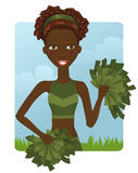 African cheerleader Royalty Free Stock Photo