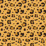 African cheetah, leopard fur vector seamless texture, fabric print Royalty Free Stock Photos