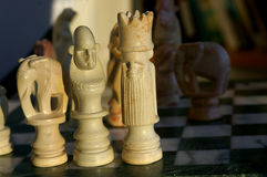 African chess pieces. African Chess set royalty free stock photography