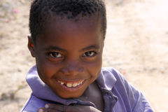 African child. Portrait of a smiling african child in Kenya royalty free stock photo