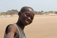 African child. Portrait of a smiling african child in Kenya stock photography