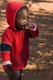 African child. Deprived African child, village near Kalahari desert, people diversity series Royalty Free Stock Photo