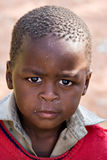 African child. Deprived African child, village near Kalahari desert, people diversity series Royalty Free Stock Images