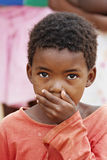 African child. African deprived child in a village near Kalahari Desert Royalty Free Stock Images