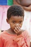 African child. African deprived child in a village near Kalahari Desert Stock Photo