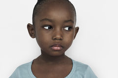 African Child Girl Portrait Emotions Expression Concept Royalty Free Stock Photo