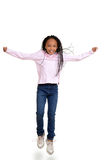African child jumping in the air Royalty Free Stock Photo