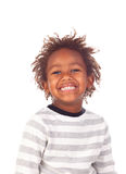 African child making a forced smiling Stock Images