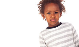 African child putting mean face Stock Photos