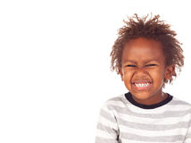 African child putting mean face Royalty Free Stock Photography