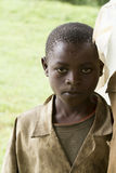 African child in a raining day Stock Image