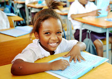 African Child in School Stock Photo