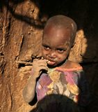 African child in slum Royalty Free Stock Image